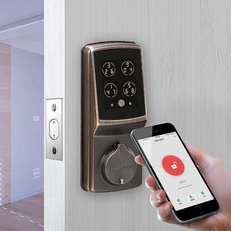 App Controlled Door Lock With Alarm System Myboothang Security Cameras For Home Home Security Systems Wireless Home Security Systems