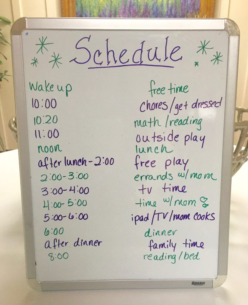 A Daily Routine for Kids Over the Summer #summerschedule
