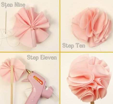 Flores De Tela Paso A Paso Faciles Buscar Con Google Manualidades Artesanías De Flores Hacer Flores De Tela