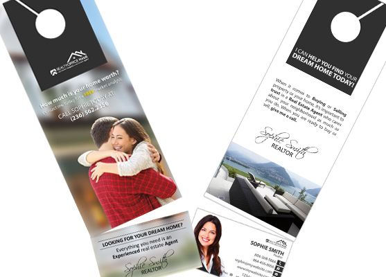 Real Estate Door Hanger Rip Cards Template 10 Door Hanger Rip Cards Door Hanger Printing Business Card Holders Cards