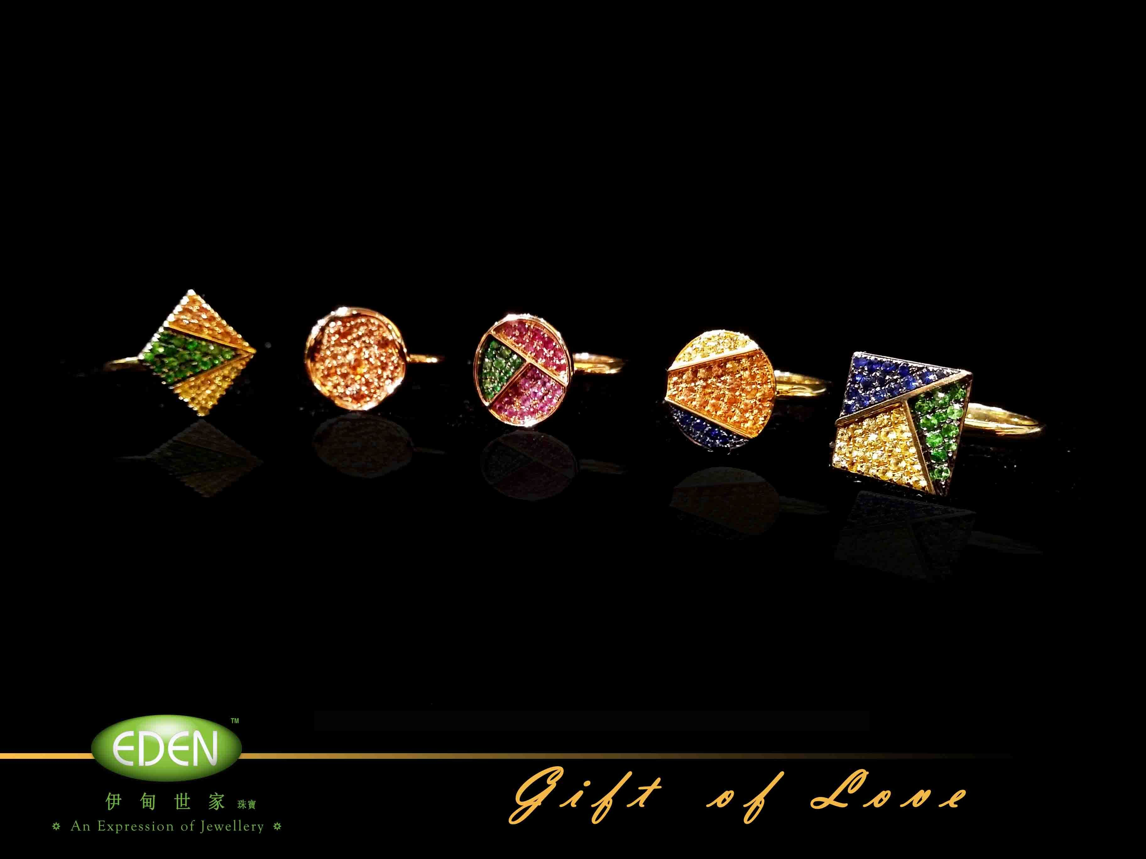 Rings of our Gift of Love collection.