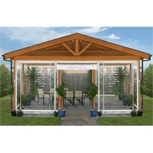 Smart 150 X 240cm Clear Pvc And White Blind Outdoor Bistro