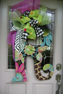 Hand Painted Monogramed Letter For A Year Round Front Door