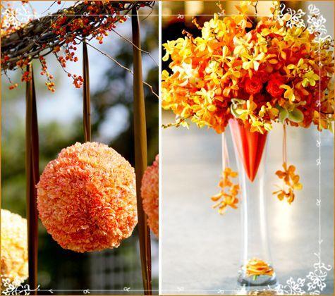 Orange And Yellow Wedding Theme Images - Wedding Decoration Ideas