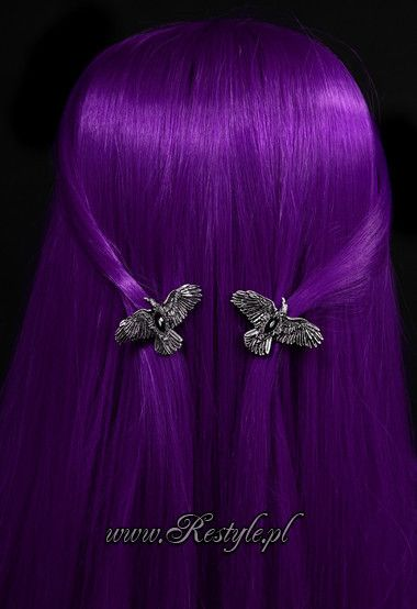 33103d425 Click to zoom   Charms   Purple Hair, Gothic hairstyles, Hair Clips