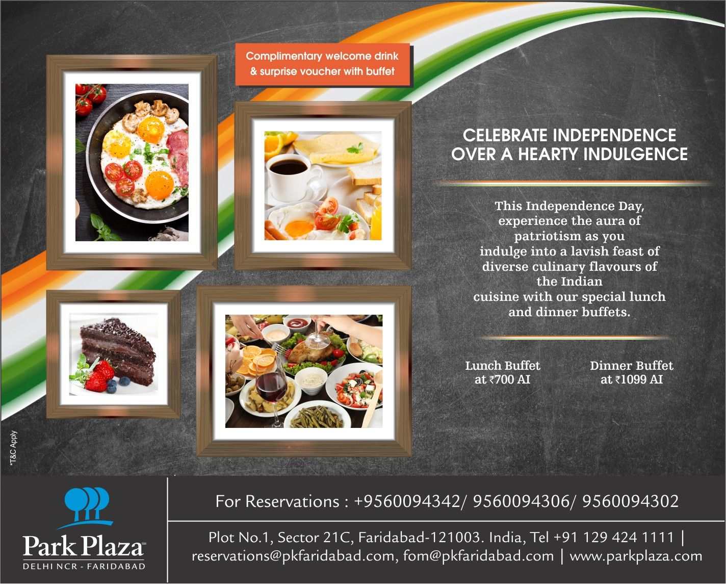 Excellent Enjoy Your Freedom To Eat At Park Plaza Faridabads Download Free Architecture Designs Rallybritishbridgeorg