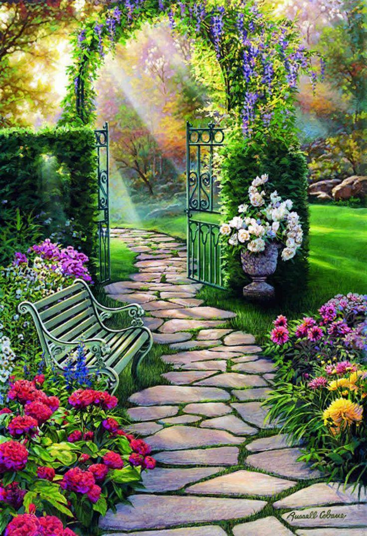 Magischer Garten Blumen Malen Peyzaj Duzenlemesi Fikirleri Peyzaj Duzenlemesi Peyzaj