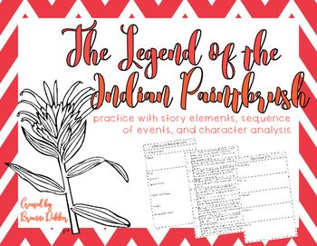 Legend of the Indian Paintbrush worksheets // These are worksheets ...