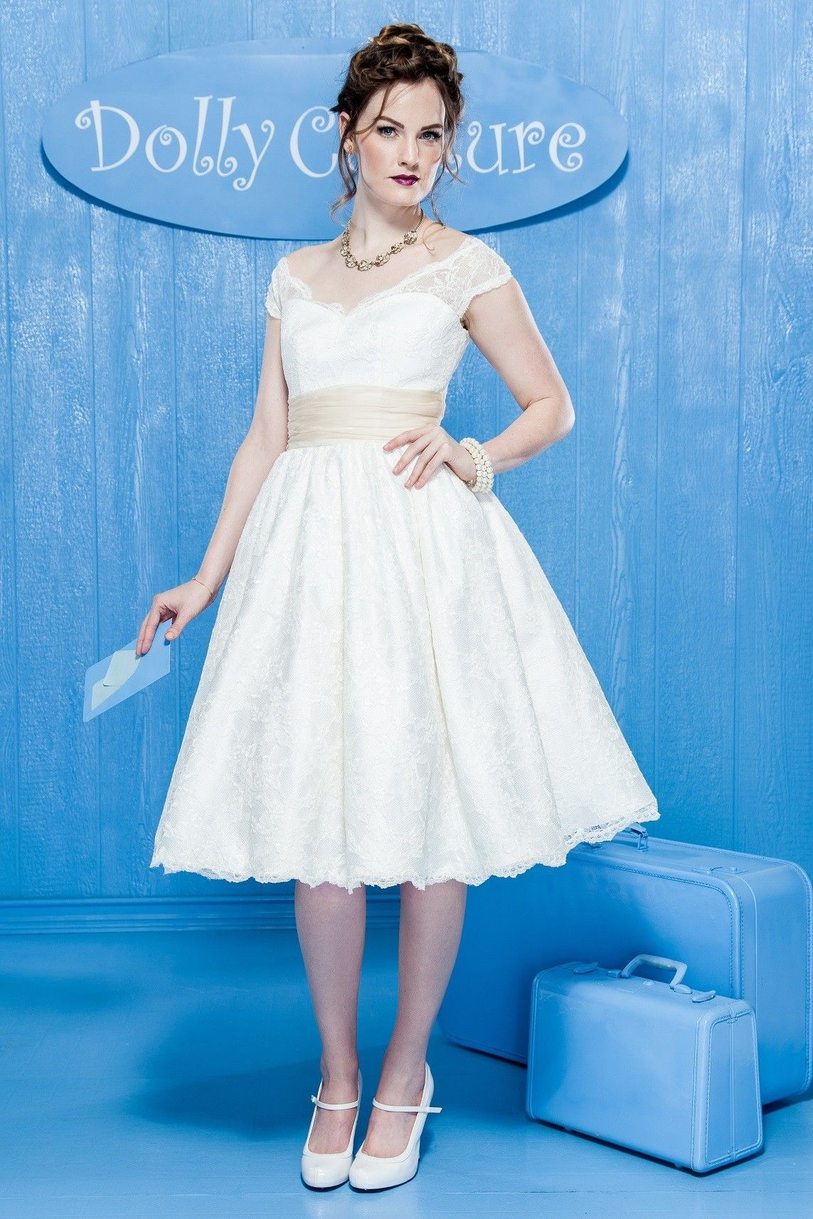 Avilia Bay with Lace Skirt - Dolly Couture in LA Full Circle Skirt ...