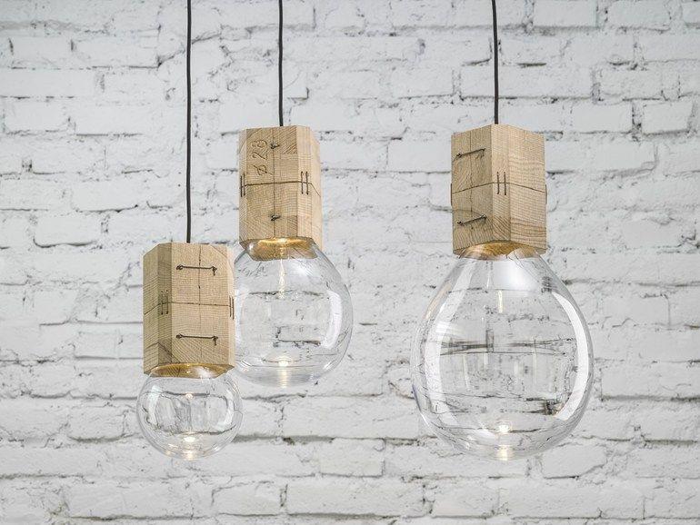 Lampade In Vetro Soffiato : Suspension fait main en verre soufflé moulds lasvit deco