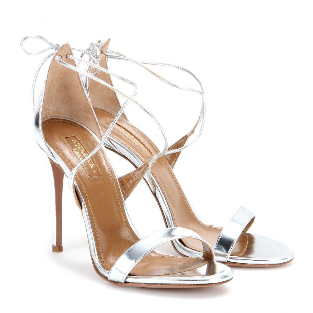 Linda Metallic Leather SandalsAquazzura QHQxvbRBHQ