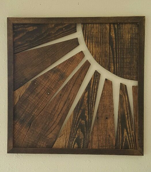 Wooden Sun Wall Art