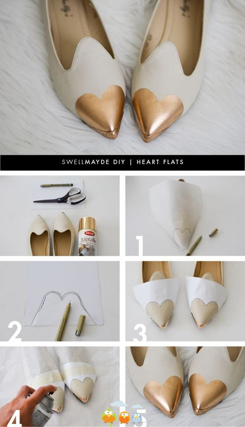 rose gold shoe tips - How about jazzing up a pair of old pumps?