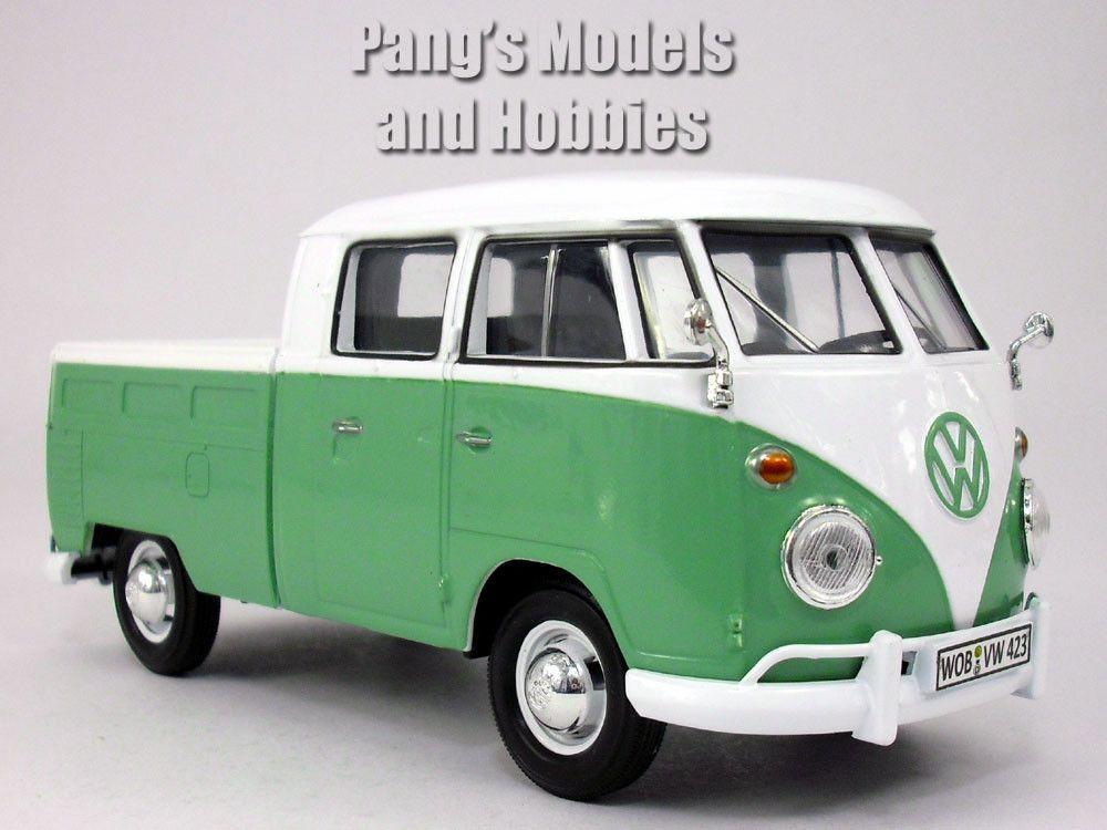 volkswagen vw t1 type 2 pick up bus van 1 24 diecast model by motormax diecast volkswagen. Black Bedroom Furniture Sets. Home Design Ideas
