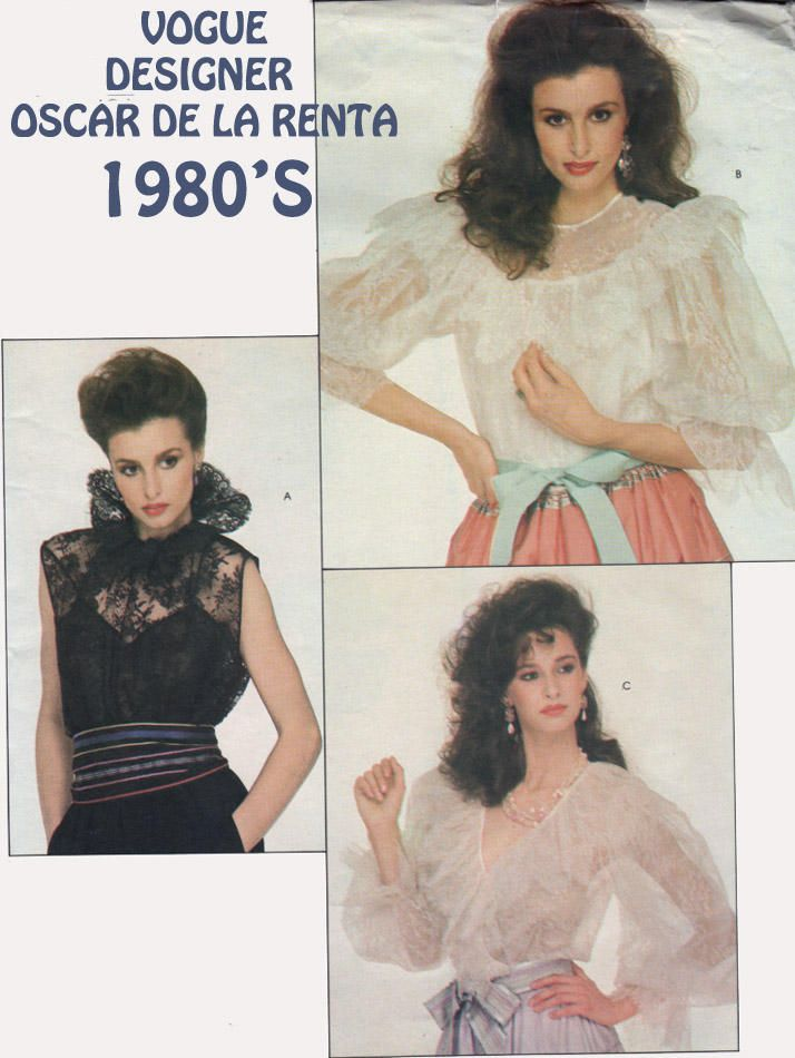 Vintage 80s Victorian Blouse and Camisole Sewing Pattern Vogue 2805 ...