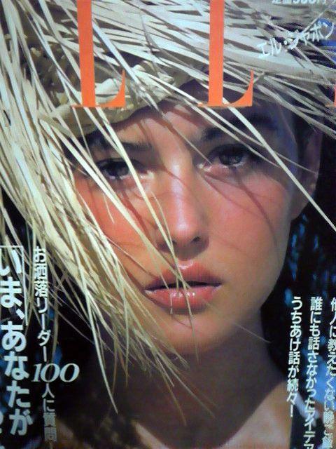 4bb1e54b27c Monica Bellucci - Elle Japan 1988 Monica Bellucci