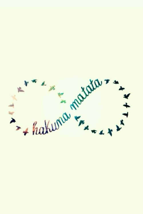 I 39 ve always loved this phrase it 39 s a swahili phrase it means no worries for the rest of your - Signification hakuna matata ...