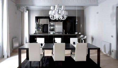 Attractive Impressive Ideas To Your Modern Black And White Dining Room Interior Design