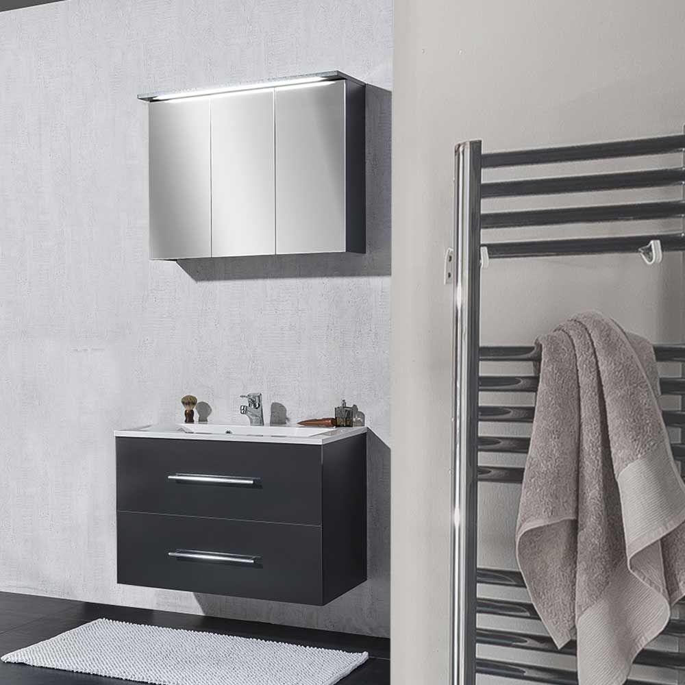 Badezimmermöbel Set in Anthrazit mit Waschtisch (2-teilig) Jetzt ...