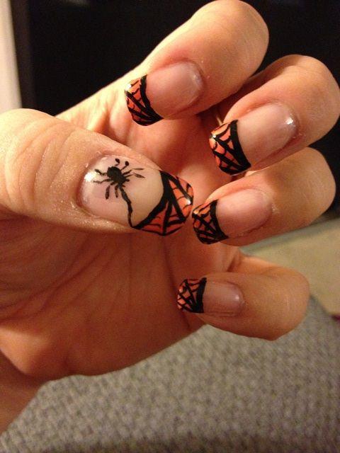 Nail Art - #halloween #spider #web   Nail art, Nails, Beauty
