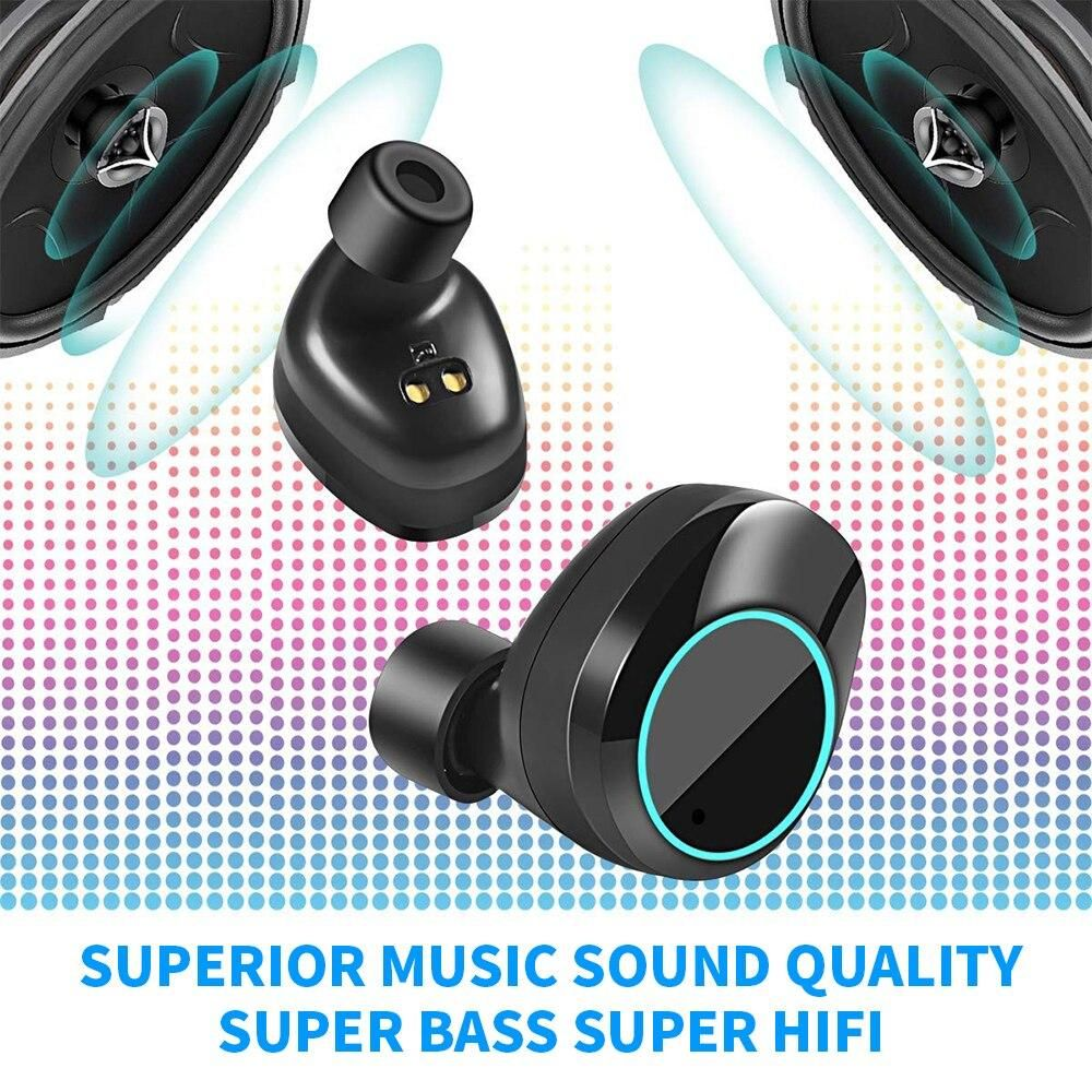Sports Bluetooth 5 0 Earbuds Man Stereo Ipx7 Wireless Earphone Touch Control With Ear Hook And 3000m Wireless Headphones Wireless Earphones Apple Earphones