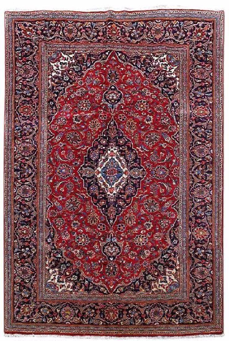 Persian Kashan Floral Motif Handmade Carpet Rug Size 6 Feet 7 Inches X 9 10 300 200 Cm Origin Iran