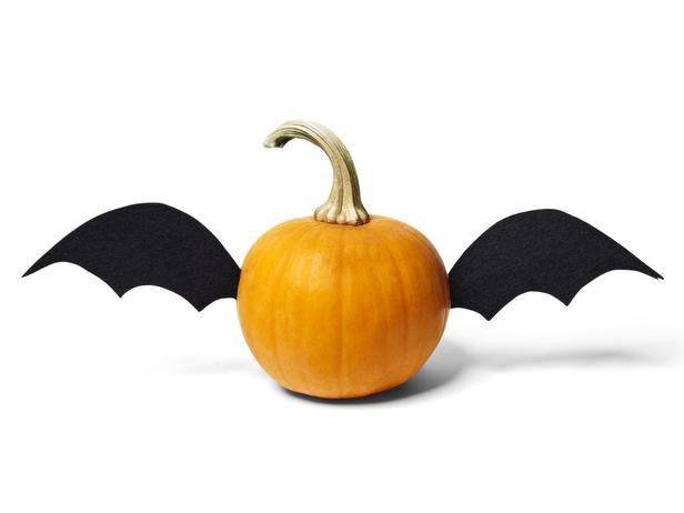 Bat Wings 6 Mini Pumpkin Makeovers On Hgtvfrom Hgtv Magazine October 2017