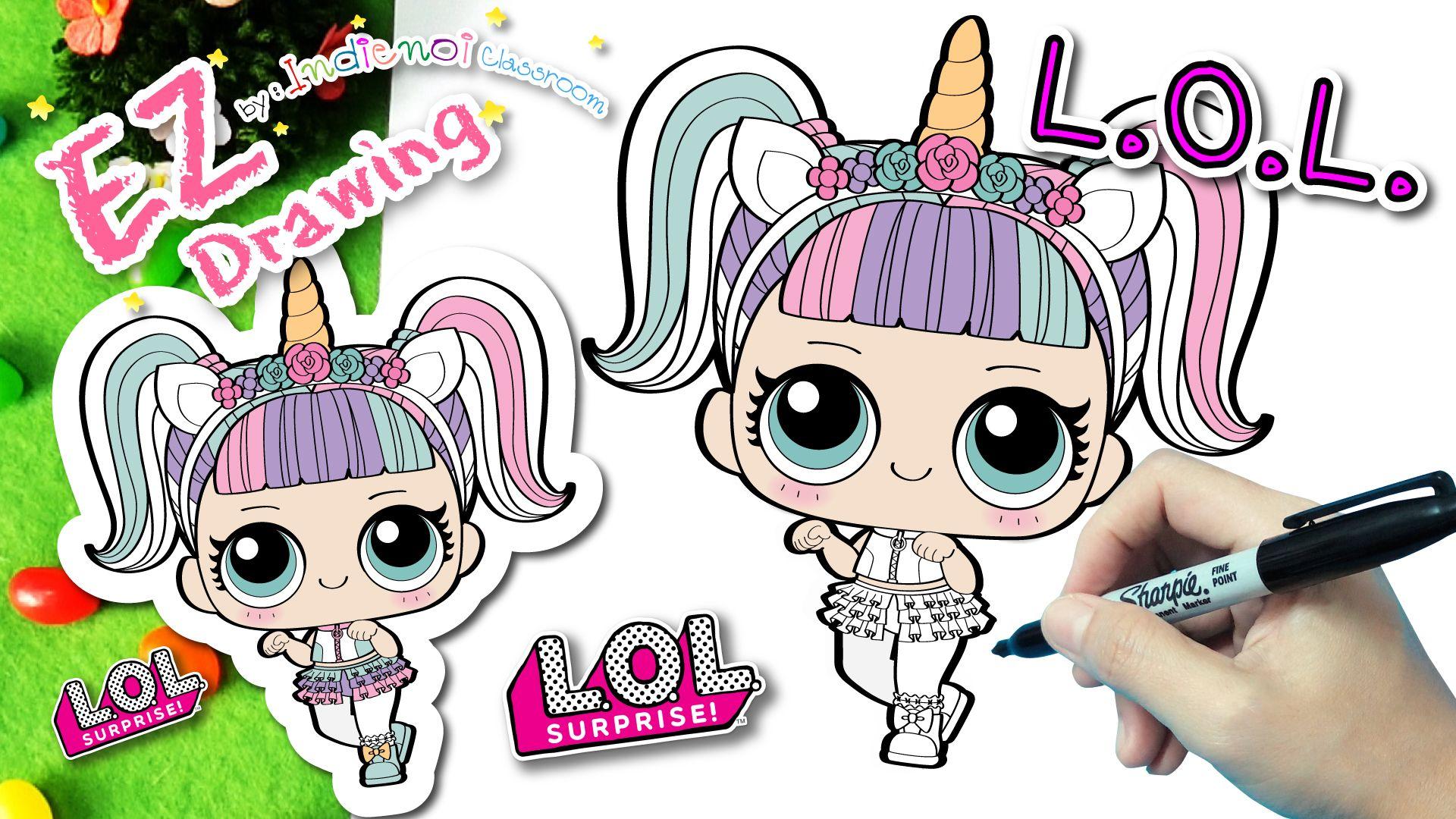 *New* วาดตุ๊กตาL.O.L Unicorn ซีรีย์ 3★EP21★How To Draw