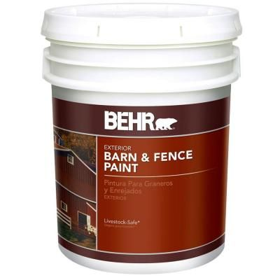 Behr 5 Gal Flat Deep Base Barn Red Barn And Fence Paint