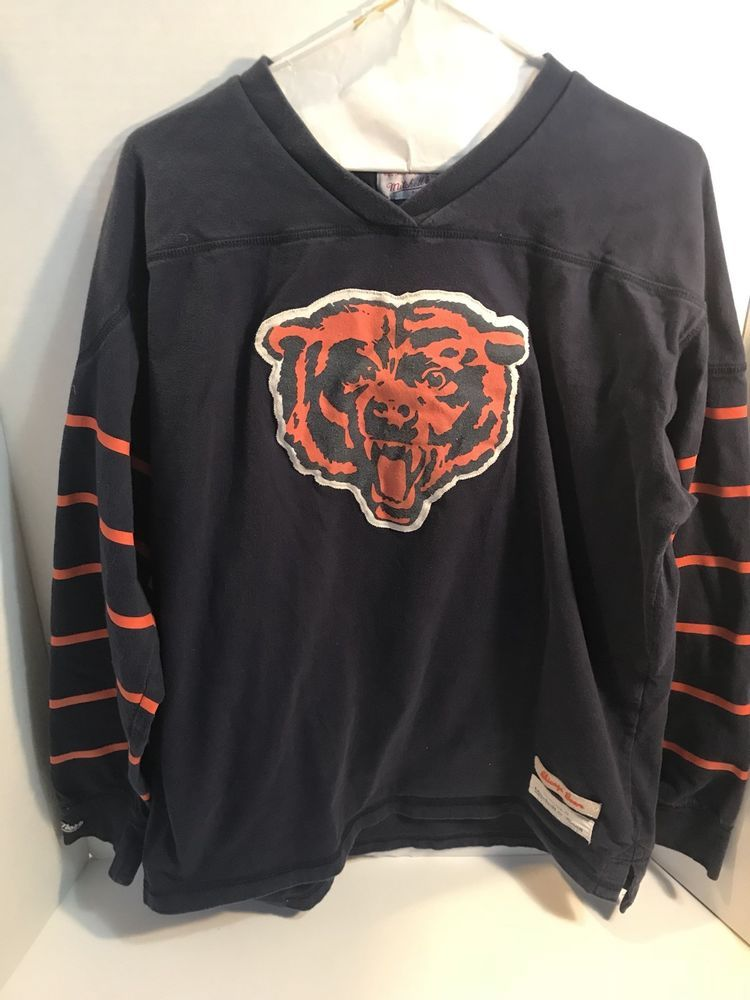 hot sale online 3edee fcb1f RETRO LOOK MITCHELL & NESS CHICAGO Bears LOGO LONG SLEEVE ...