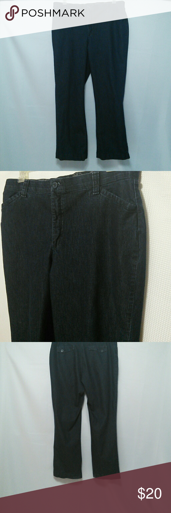 LEE Stretch Jeans Womens Straight Leg 18 Dark Blue Size 18 Women's Lee Stretch Jeans 72% Cotton 26% Polyester 2% Spandex. Extremely comfortable Lee Jeans Flare
