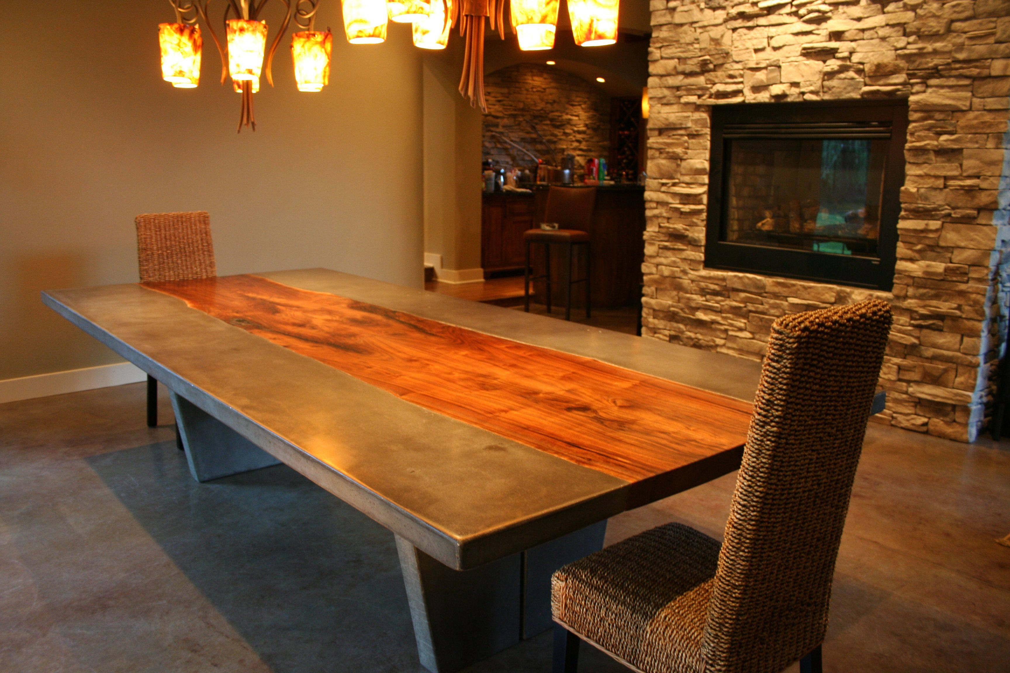 walnut concrete dining table - Trendy Dining Tables