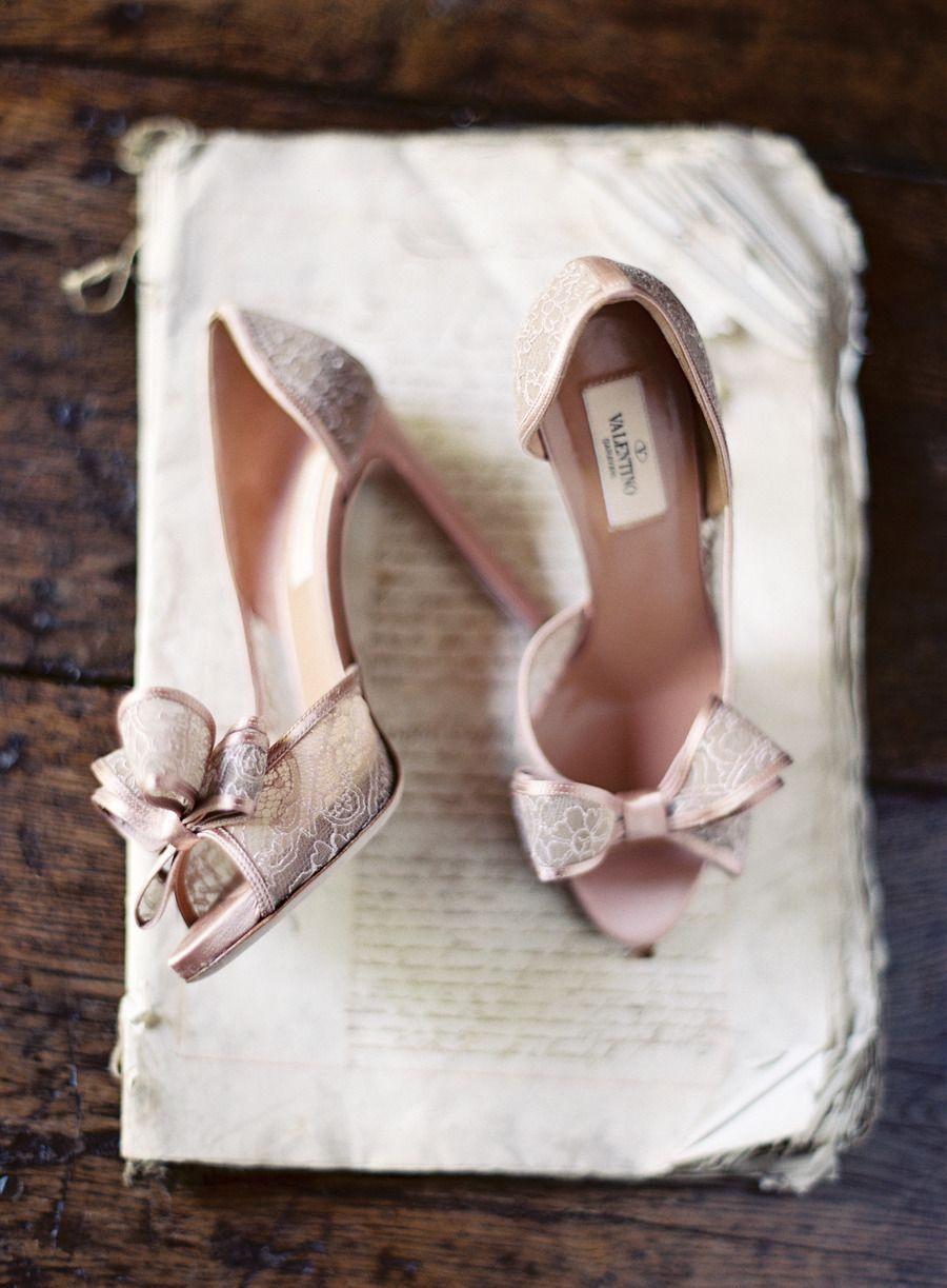 gorgeous Valentino lace heels | Photography: Jose Villa Photography - josevillaphoto.com | Style Me Pretty