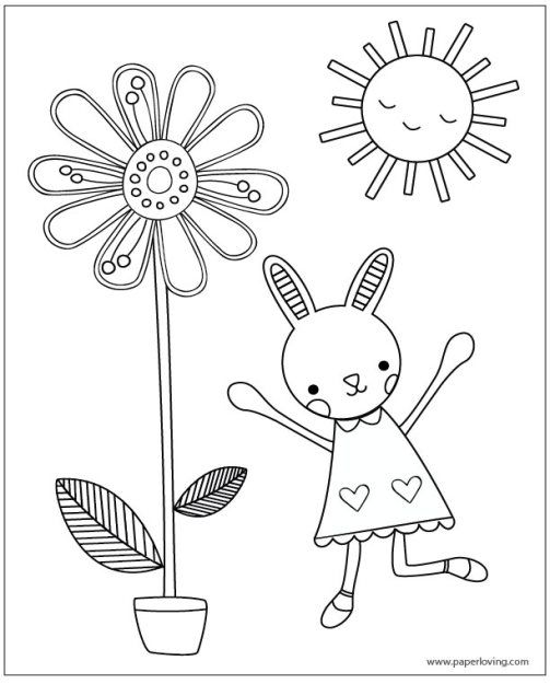 Spring or Easter Printable Coloring Pages | Easter ...