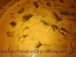 Konkani Foodies Diary: Bhenda Saglen