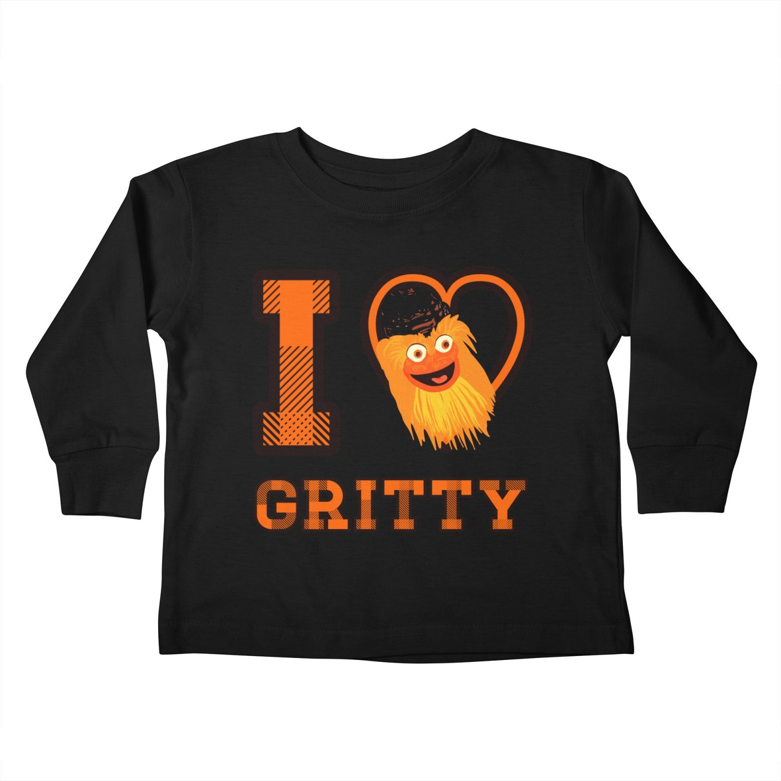 I love Gritty mascot hockey Philadelphia Kids Toddler Longsleeve T-Shirt by  Mimie s Artist Shop  Gritty  Philadelphia  flyers  tshirt a1bcee584