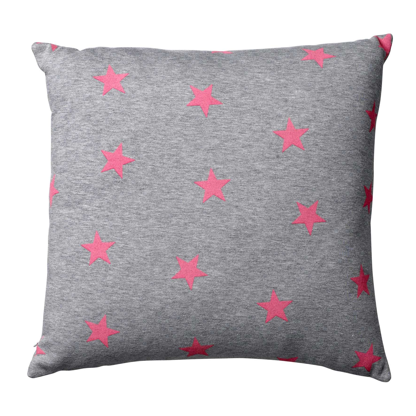 bloomingville jersey cushion with pink stars color pinterest. Black Bedroom Furniture Sets. Home Design Ideas