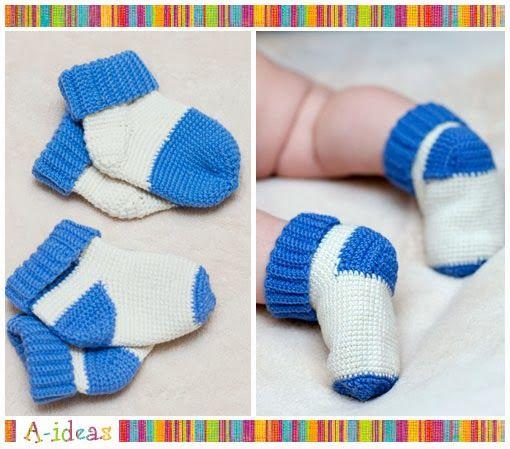 crochet socks for baby | häkeln | Pinterest | Häkeln und Schuhe