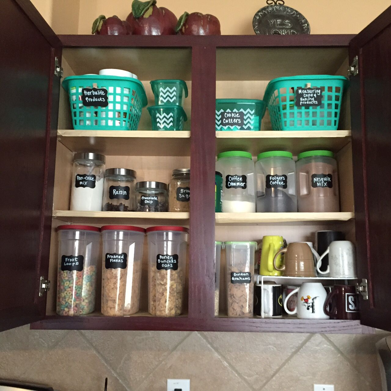 Ideas To Organize Your Kitchen Cabinet All From The Dollar Tree Store Made By