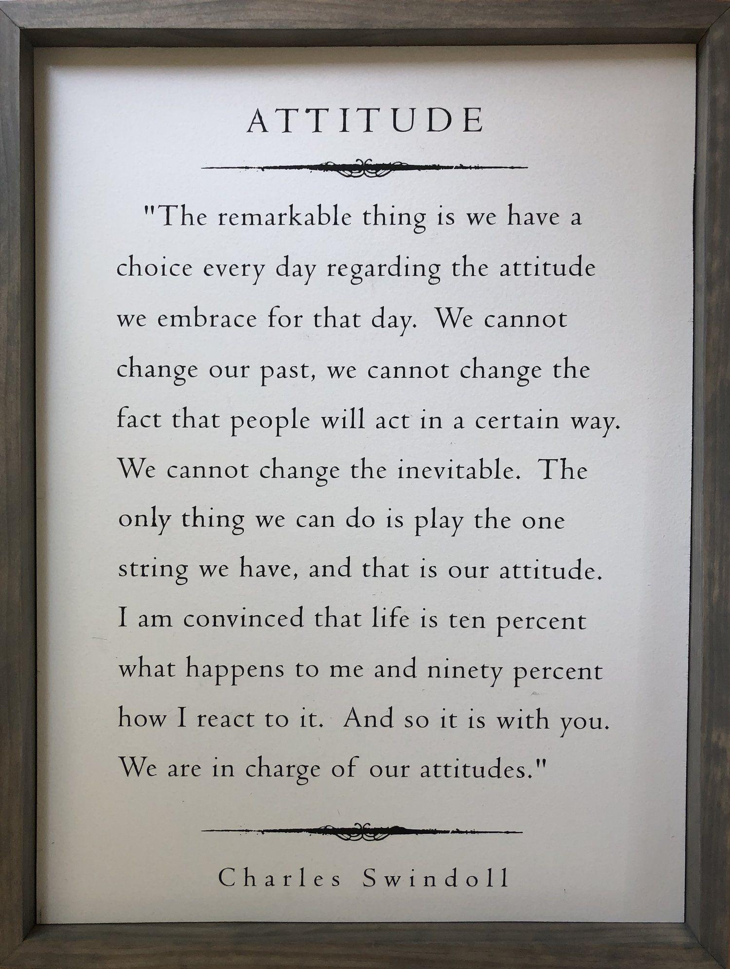 Attitude - Charles Swindoll — This Beautiful Life