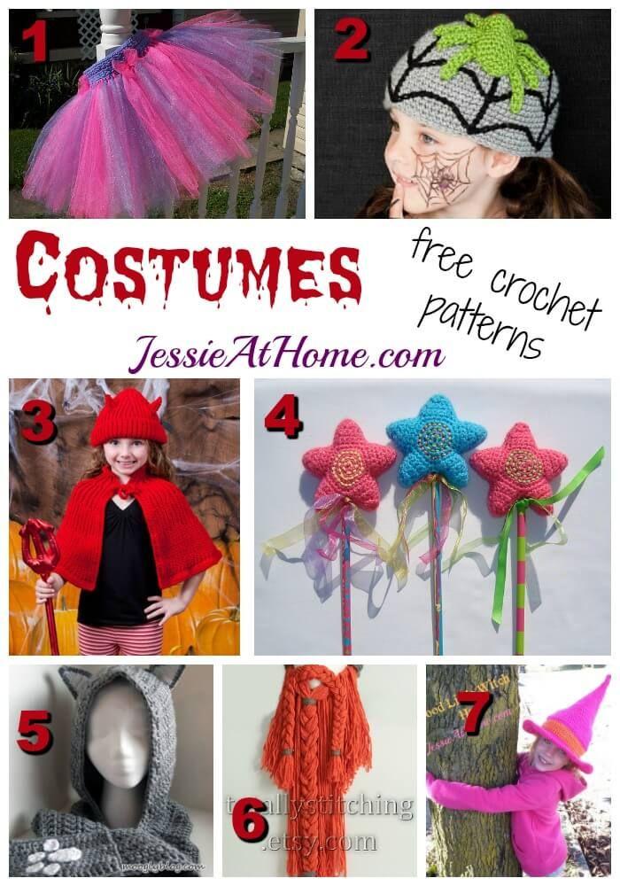 7 free #crochet costume patterns for Halloween via @jessie_athome ...