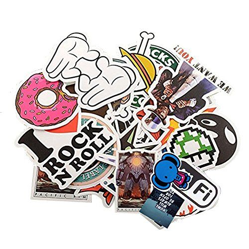 25 Pack Sticker Bomb Pack Variety Vinyl Car Sticker Motorcycle Bicycle Luggage Decal Graffiti Patches Skateboard Stickers for Laptop Stickers