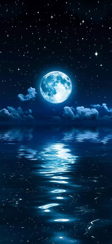 Beautiful Moon Wallpaper Planets Wallpaper Scenery Wallpaper Night Sky Wallpaper