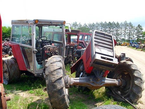 Massey Ferguson 3545 tractor salvaged for used parts  All