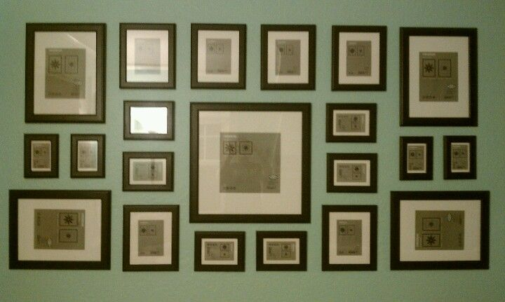 Turn your wall into a gallery with an assortment of IKEA matching ...