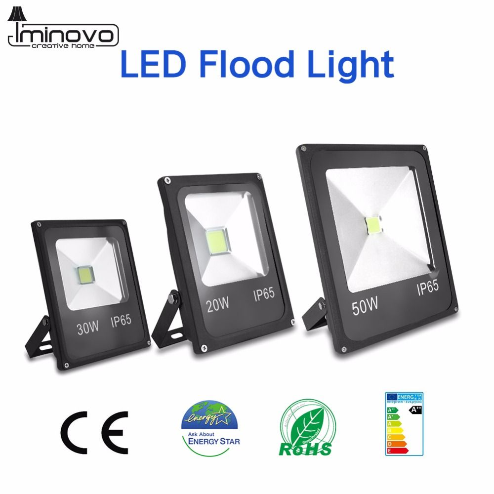 Iminovo Led 110v Flood Light 10w 20w 30w 50w Wall Lamp Spotlights Outdoor Lighting Waterproof Ip65 For Square G Led Flood Lights Flood Lights Outdoor Lighting