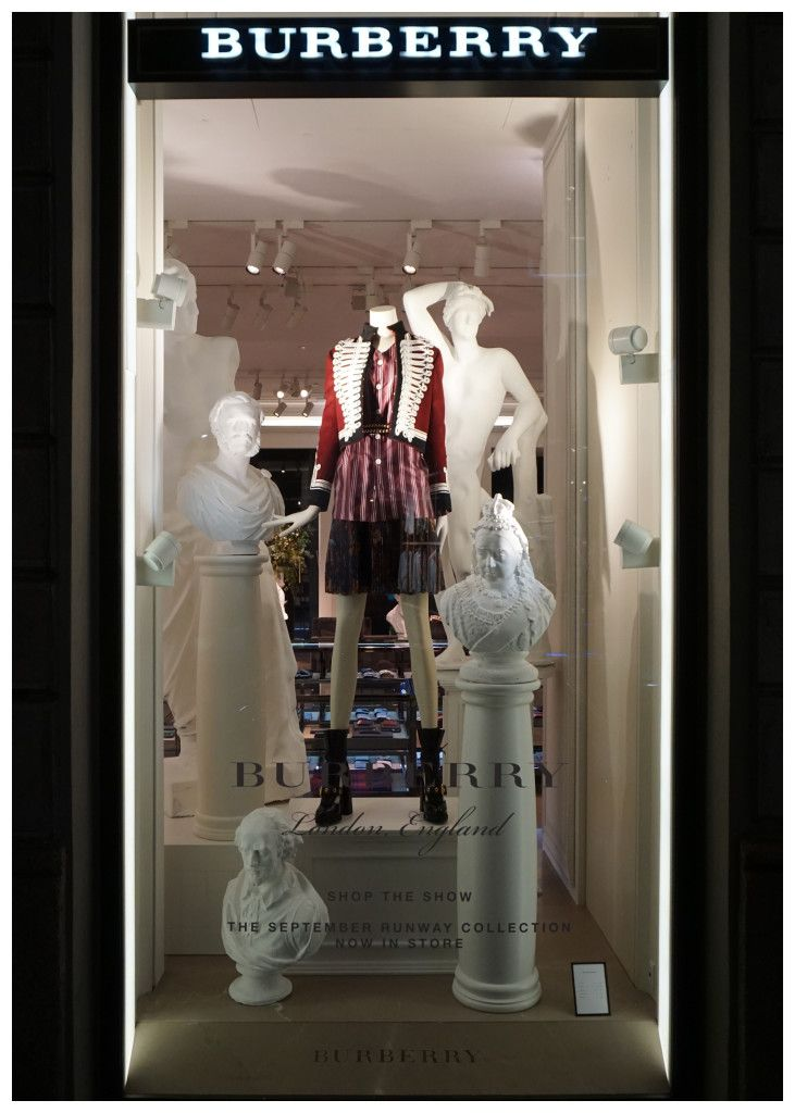 burberry shop window, milan  Photographed & pinned by Kozerska Maria, KMstudio