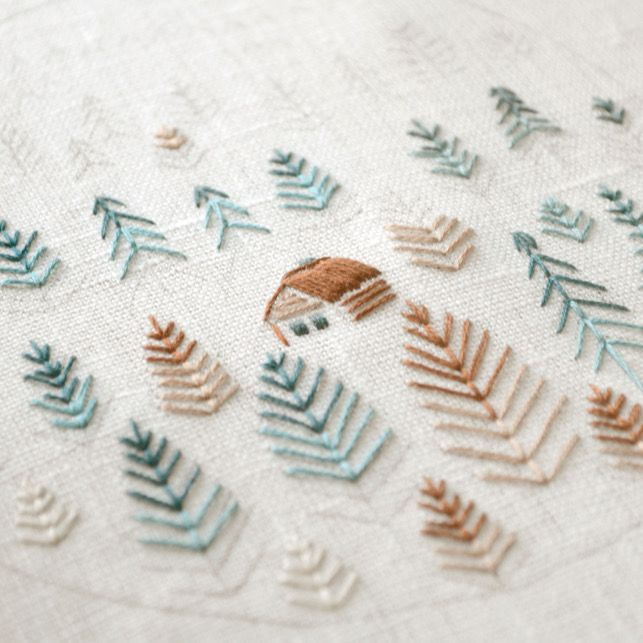 Forest hand embroidery patterns pdf pattern