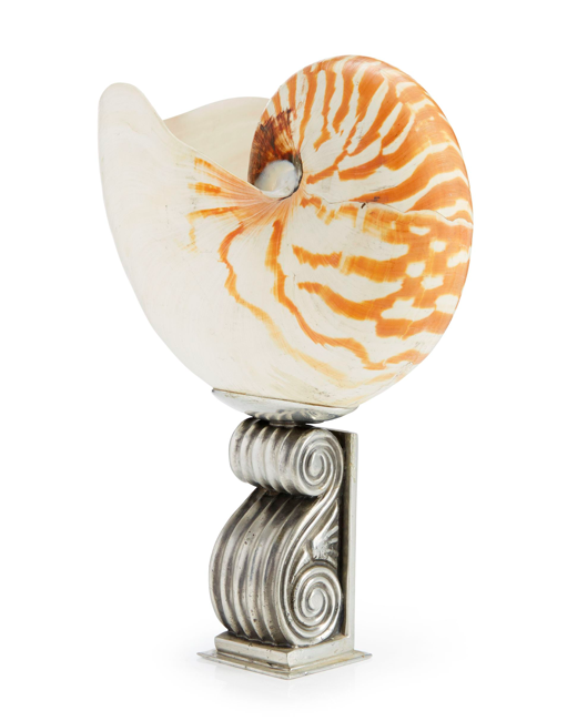 ESTRID ERICSON, cup, Svenskt Tenn, brass and shell, height 23 cm