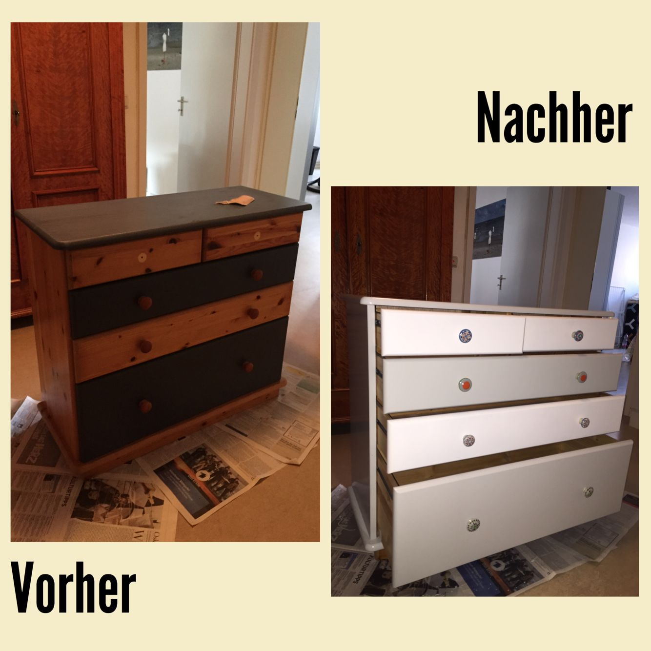 neu lackierte kommode decoration diy pinterest lackieren und neuer. Black Bedroom Furniture Sets. Home Design Ideas